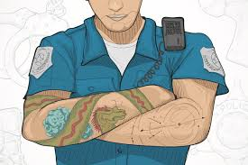 police union defends tattooed officers u0027 right to bare arms with