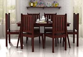 Seater Dining Table Online  Six Seater Dining Table Set India - Teak dining table and chairs india