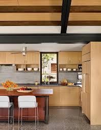 Transitional Pendant Lighting Kitchen - rift cut oak with tile kitchen backsplash southwestern and glass
