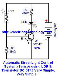 automatic night light with sensor automatic street light control system sensor using ldr transistor