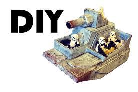 diy star wars craft how to make a cardboard snowspeeder tank for