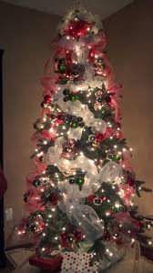 lighted christmas tree with deco mesh what a beautiful glow