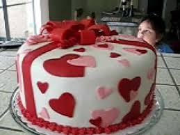 Valentine S Day Cake Decoration Ideas by Valentine U0027s Fondant Cake My First Youtube