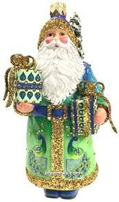 breen ornament 9717 goslar santa blue cobalt