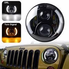 jeep black headlights dot approved 120w 7 u0027 u0027 black daymaker led headlights 4 u0027 u0027 led fog