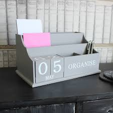 Chic Desks Distressed Desktop Organiser With Changable Date And Letter Rack