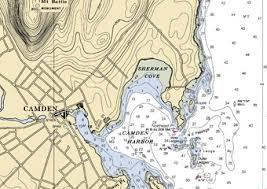 map of camden maine charts navigation town of camden maine