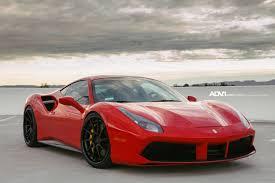 ferrari 488 red ferrari 488 gtb adv10r track spec cs directional wheels