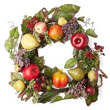 artificial fruit and berry wreath wreaths floral supplies