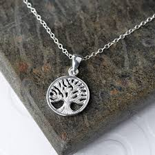small silver tree of necklace martha jackson jewellery