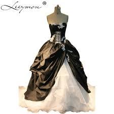 robe de mari e gothique sorcière style noiva gothique réel chérie corset robe de mariée