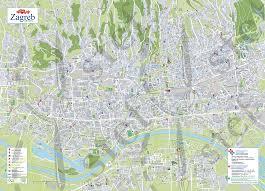 Zagreb Map Zagreb Letak