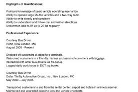 Sample Bus Driver Resume by Truck Driver Resume For Skills Reentrycorps