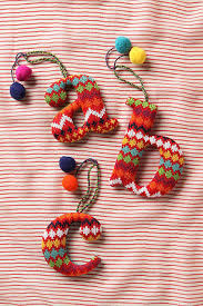 crocheted ornaments letter ornament