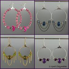 easy earrings 2 claymates how to make easy peasy hoop style earrings