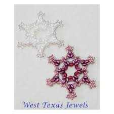 snowflake 11 beaded ornament pattern bead patterns by