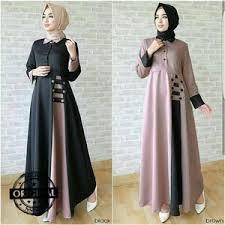Baju Muslim Wanita jual baju gamis lebaran wanita tunik blouse baju muslim murah afida