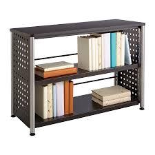 black two shelf bookcase scoot 2 shelf bookcase safco products