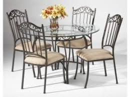 Wrought Iron Dining Table And Chairs Glass Top Wrought Iron Dining Table Foter