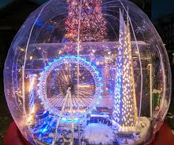 light up snow globe world s largest snow globe lights up london inhabitat green