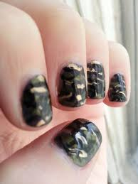 september nail art challenge camo nood mood