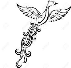phoenix bird tattoo royalty free cliparts vectors and stock