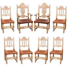 addison mizner spanish revival dining set with eight dining chairs