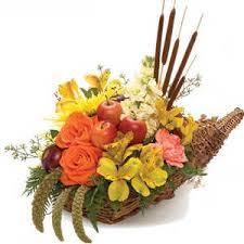 cornucopia centerpiece classic cornucopia flower arrangement thanksgiving centerpiece