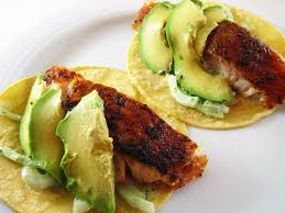 blackened fish baja tacos in the kitchen with kath