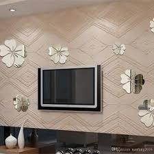 5 flower room background art mirror surface 3d wall sticker