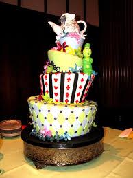 cool cake alice in wonderland wedding cake wedding blue cake