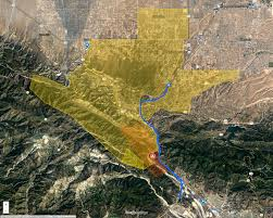 Glendora Wildfire Map by Socalmountains Com Printer Friendly
