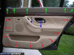 bmw door panel how can i remove the door panel and vapor barrier to access the