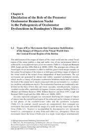 Role Of Brain Stem Elucidation Of The Role Of The Premotor Oculomotor Brainstem