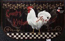 rooster kitchen rug ebay