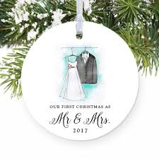 amazon com our first christmas as mr u0026 mrs ornament 2017 wedding