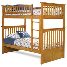 Crib Mattress Bunk Bed by Atlantic Furniture Columbia Twin Over Twin Bunk Bed Hayneedle