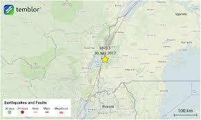 Uganda Africa Map by M U003d5 3 Earthquake Strikes East Africa Rift Temblor Net