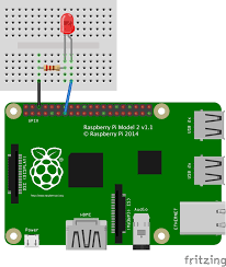Led Blinking Circuit Diagram Javascript Robotics Led Blink On Raspberry Pi With Johnny Five