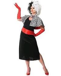 Cruella Vil Halloween Costumes Cruella Vil Costume Medium Women Cosplay Halloween Dress