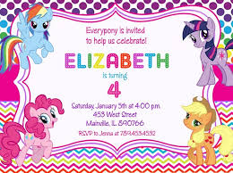 my little pony birthday invitations cloveranddot com