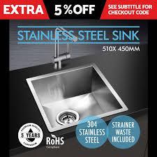 Ebay Kitchen Sinks Stainless Steel by 510x450mm Handmade Stainless Steel Under Topmount Kitchen Laundry