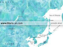 Japan World Map by Wanderlust Printable Aquamarine World Map With Countries And