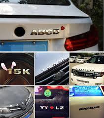 1pcs car auto chrome 3d arc letters for cars careful read size