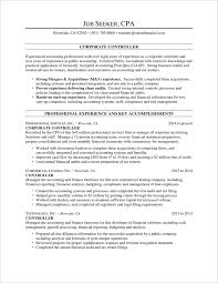 controller resume exle audprofessional summary resume fungram co