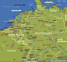 map germany and maps of germany and benelux johomaps