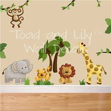 Fabric Wall Decals For Nursery Wall Decal Safari Wall Decals For Nursery Safari Animal Wall