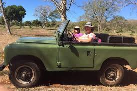 land rover safari expedition at chichen itza driving a vintage land rover and