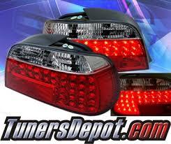 e38 euro tail lights sonar led tail lights red clear 95 01 bmw 740i e38 alt yd be3895