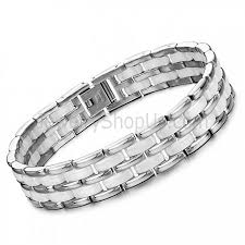 white ceramic bracelet images Ceramic and titanium mechanics link bracelet white rose gold jpg
